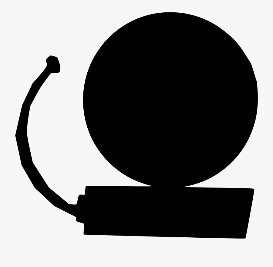 Silhouette,monochrome Photography,circle - School Bell, Transparent Clipart