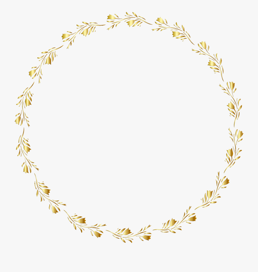 Gold Round Border Png, Transparent Clipart