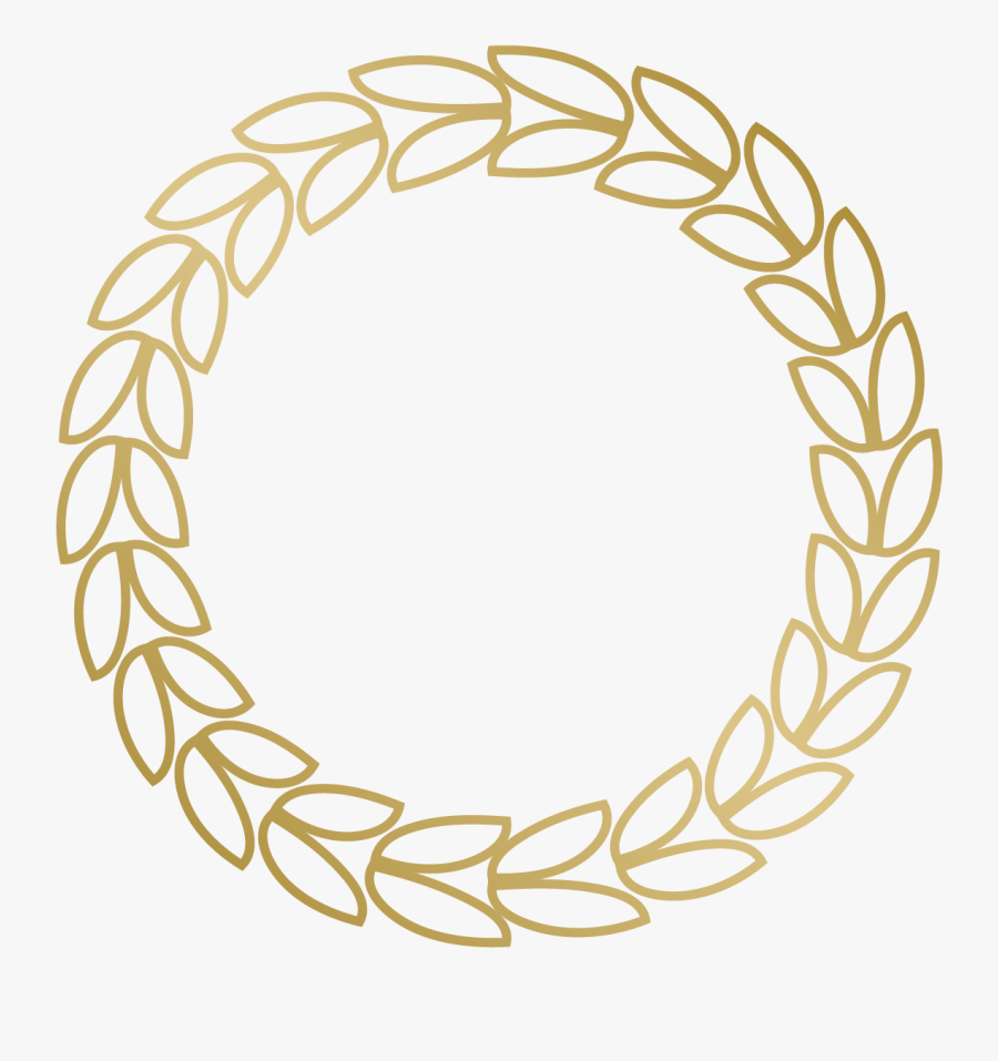 Transparent Circular Border Clipart - Circle Border Design Png Gold, Transparent Clipart
