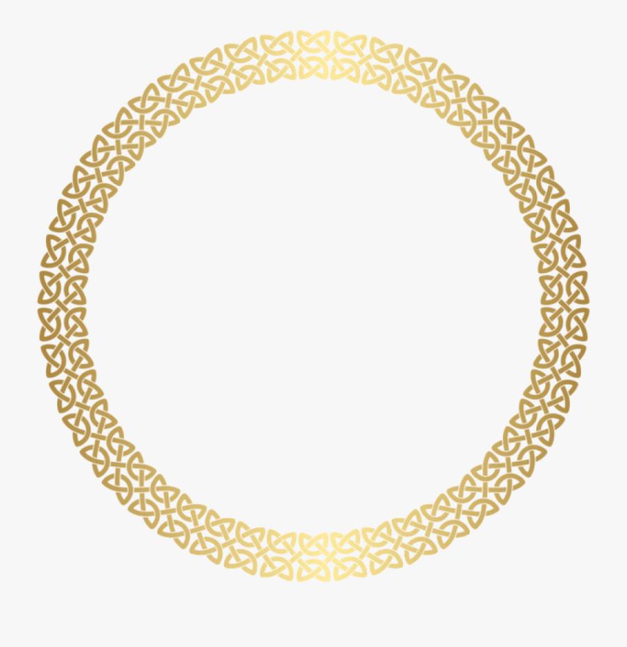 Golden Round Frame Png - Round Golden Frame Png, Transparent Clipart