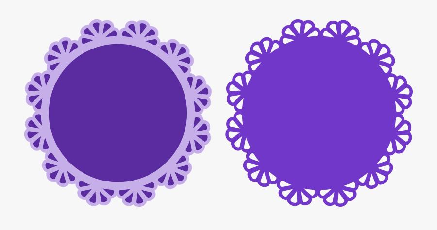 Transparent Scallop Border Clipart - Purple Border Design Circle, Transparent Clipart