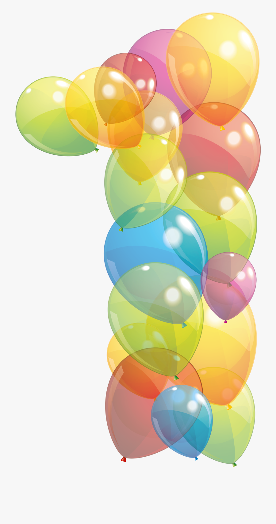 Transparent One Number Of Balloons Png Clipart Image - Number 1 Balloon Clipart, Transparent Clipart