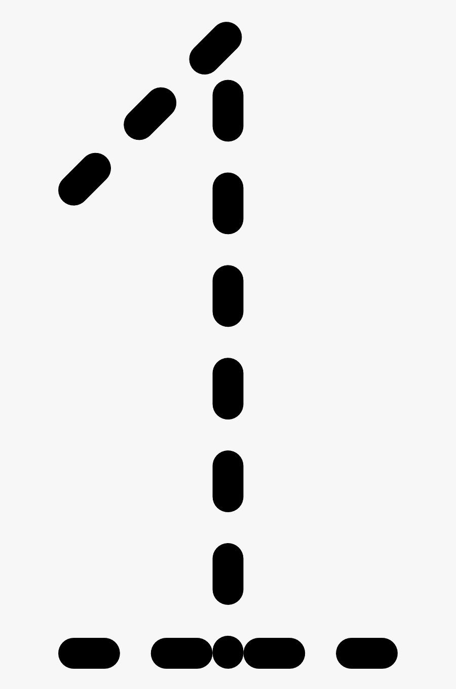 Tracing Of Number 1, Transparent Clipart