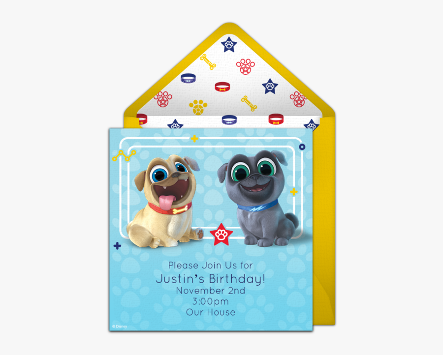 Puppy Dog Pals Birthday Party Invitations, Transparent Clipart