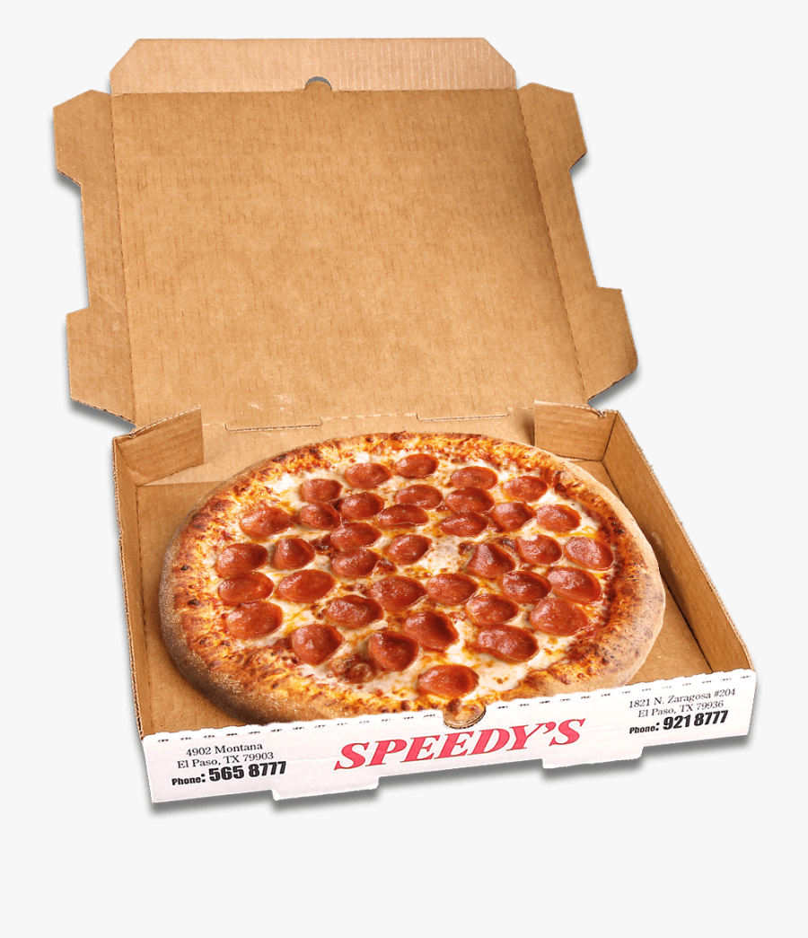 Pizza Boxes Png - Pepperoni Pizza In A Box, Transparent Clipart