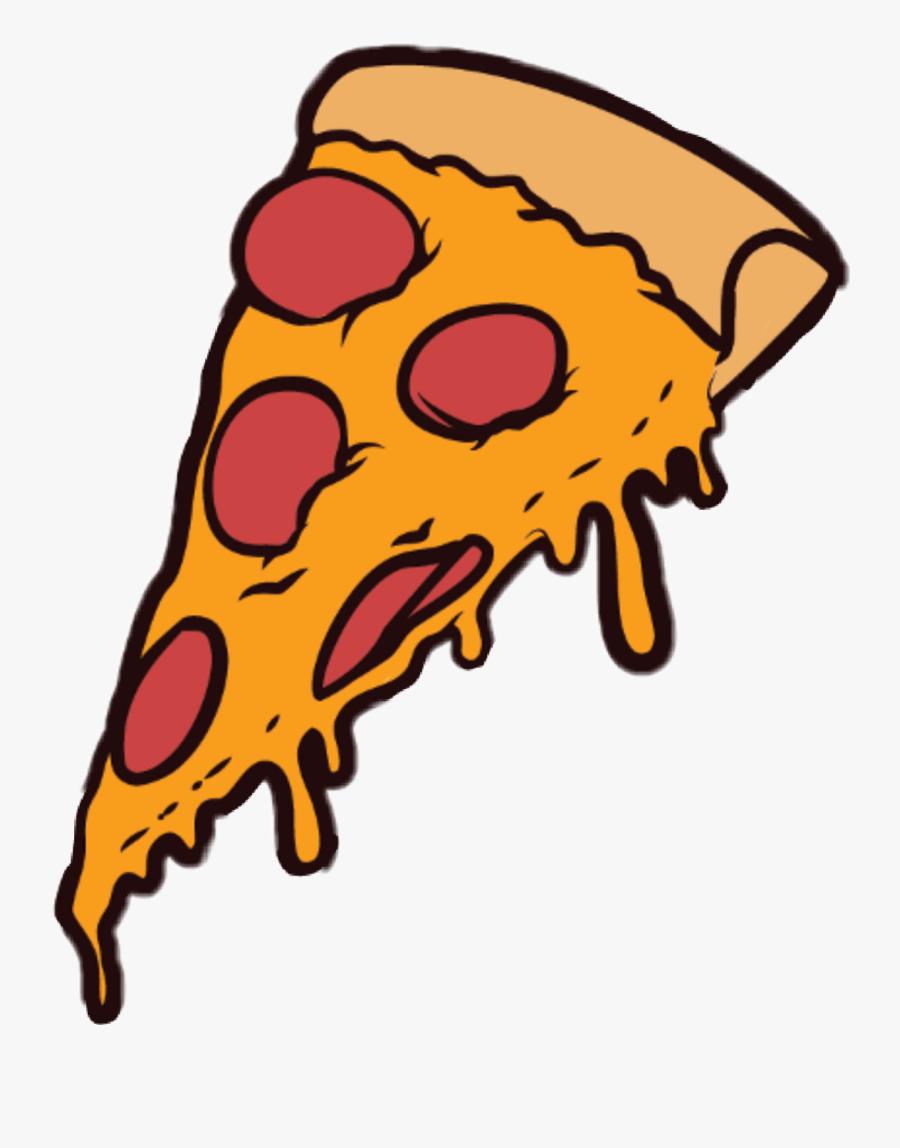 Cartoon Pizza Slice Png, Transparent Clipart