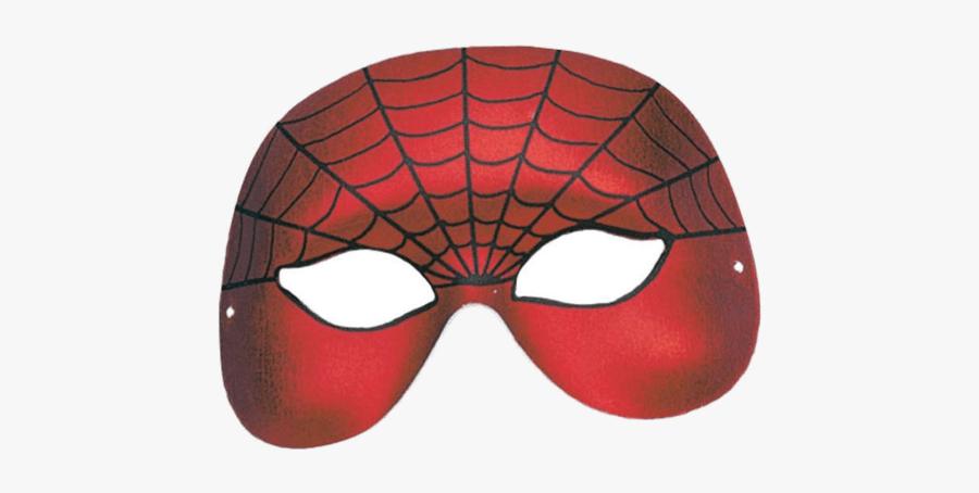 Superhero Cape Clipart - Transparent Spider Man Clipart Spiderman Eye Mask Png, Transparent Clipart