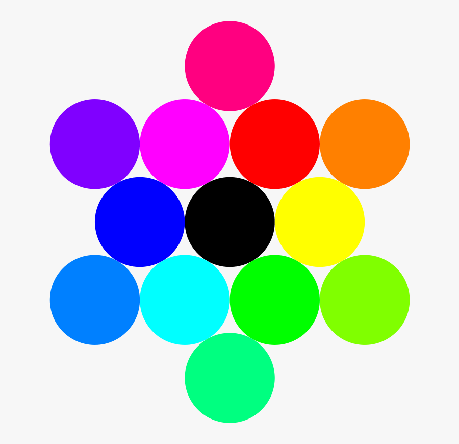 13 Circles Rainbow - 13 Circles In A Big Circle, Transparent Clipart