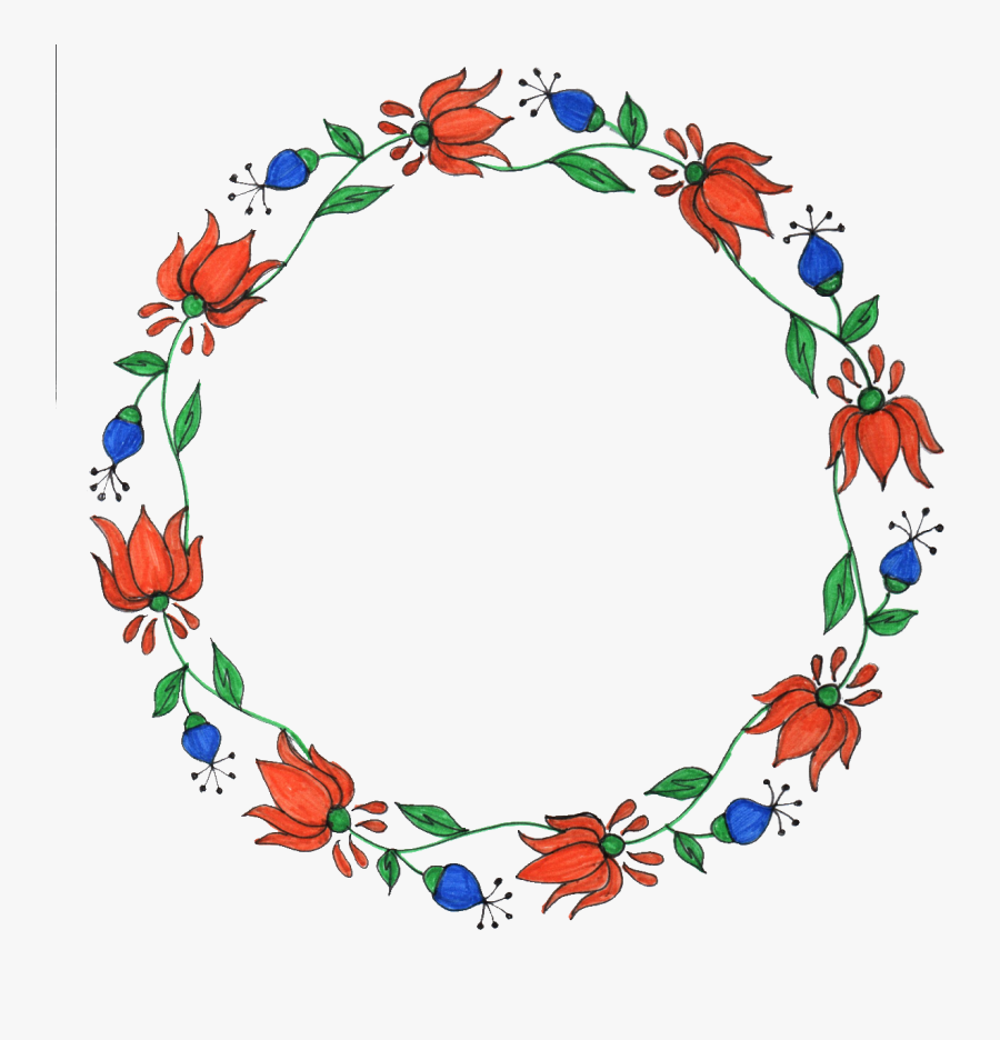 Flower Png Circle Design Drawing Leaf And Flower Free