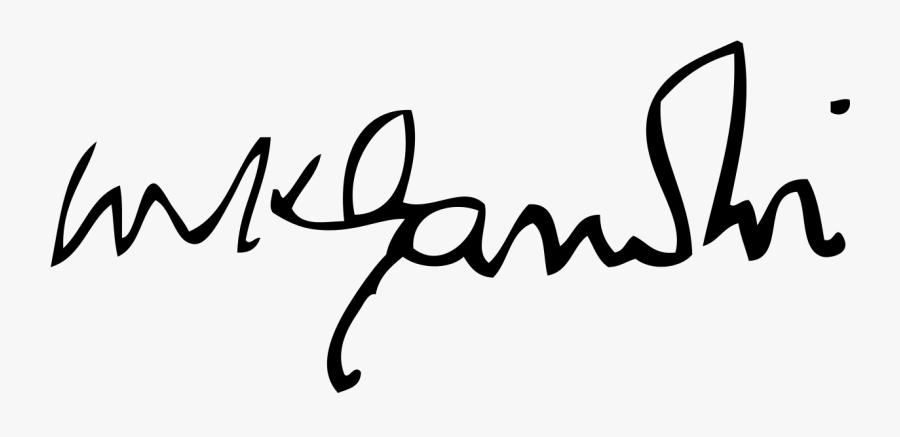 File - Gandhi Signature - Svg - Signatures Of Famous - Mahatma Gandhi Signature, Transparent Clipart