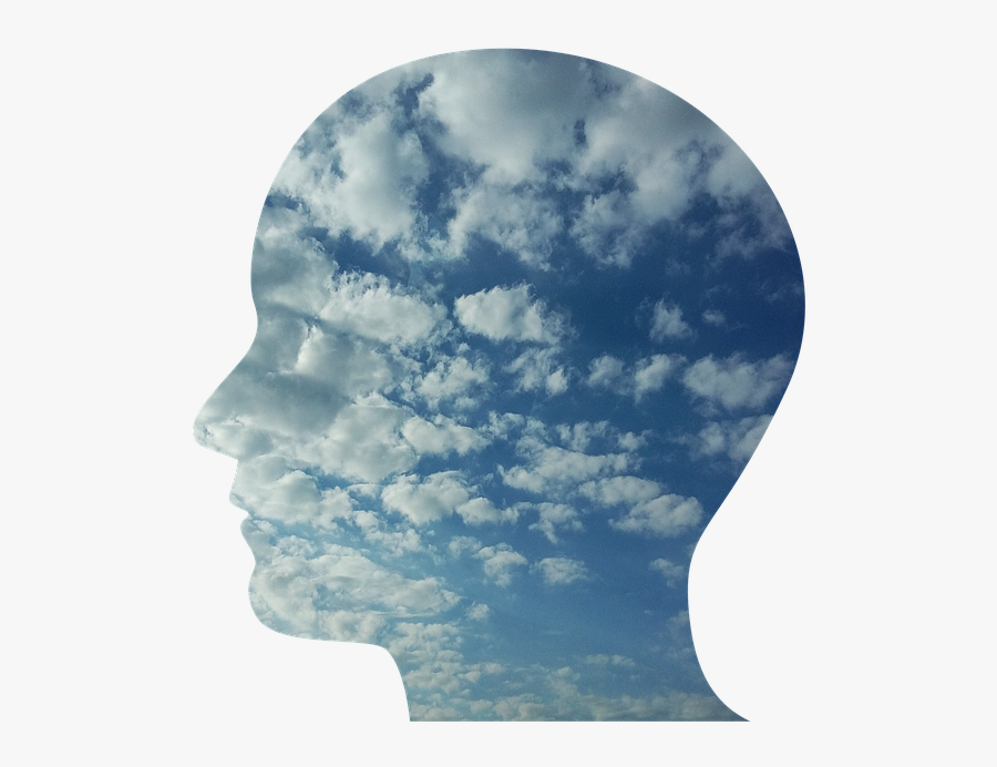 Transparent Confused Person Clipart - Head In The Clouds Transparent, Transparent Clipart