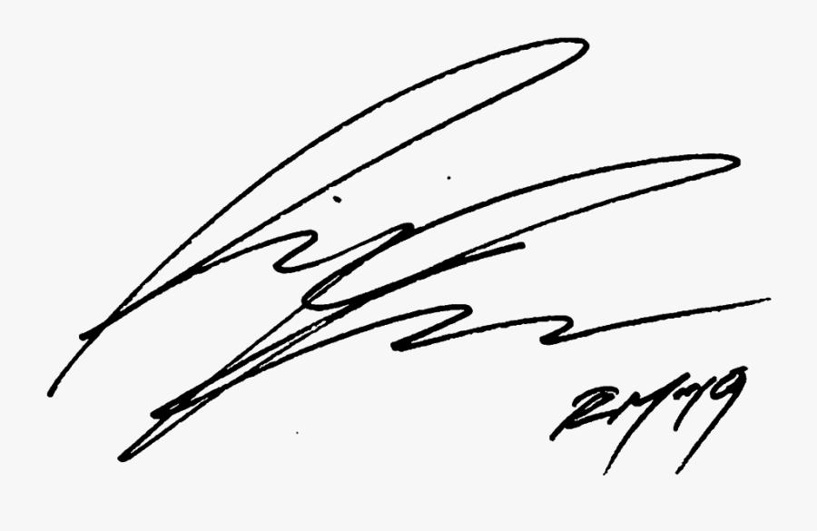 #rapmonster #rm #namjoon #signature - Rap Monster Signature, Transparent Clipart