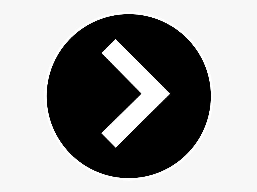 Right Black Arrow Png, Transparent Clipart