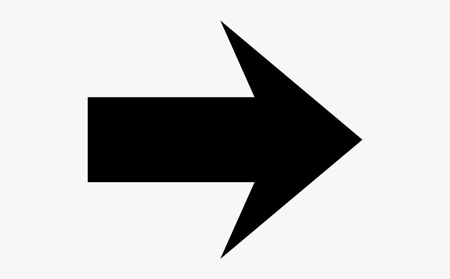 Black Arrow Right Png, Transparent Clipart