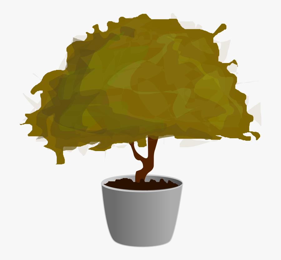Plant Svg Clip Arts - Tree Pot Clip Art, Transparent Clipart