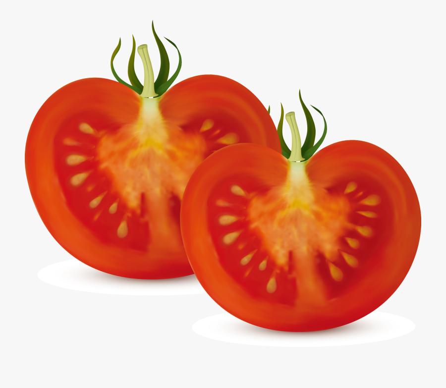 Bush Clipart Vegetable Plant - Tomato Cut In Half, Transparent Clipart
