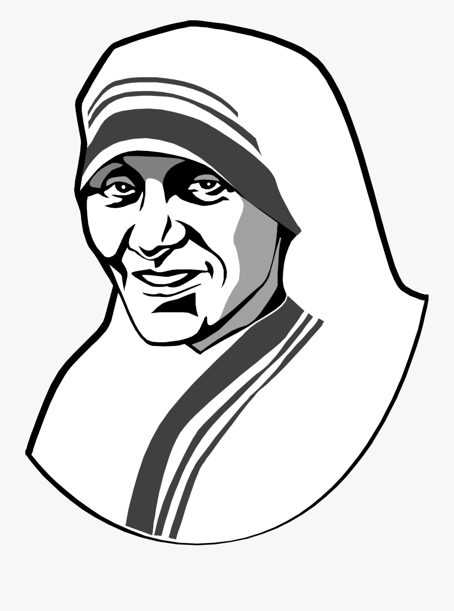 Collection Of Free Kids Drawing Self Portrait Download - Cartoon Mother Teresa Drawing Easy, Transparent Clipart