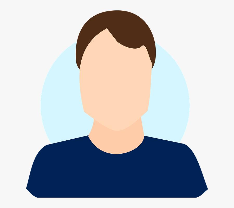 Profile Man Male Photo Face Portrait Illustration - Free Male Avatar, Transparent Clipart