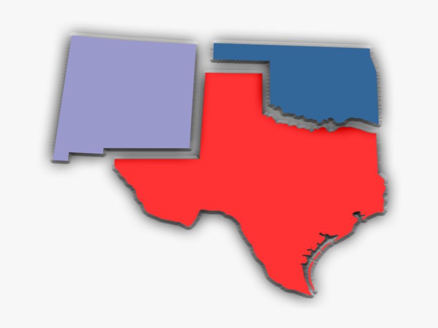 Transparent Texas Outline Png - Map, Transparent Clipart