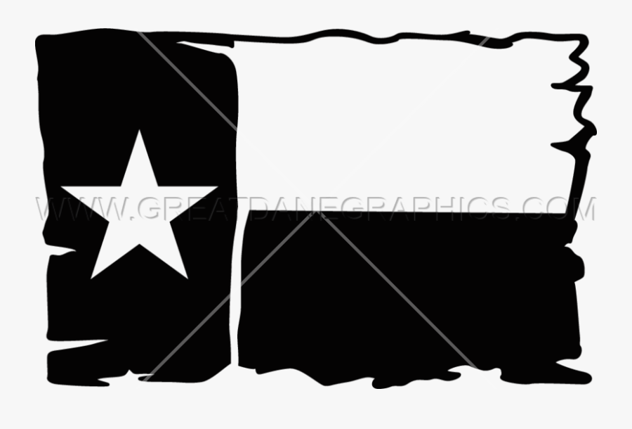 Transparent Flag Banner Clipart Black And White - Flag Of Texas, Transparent Clipart