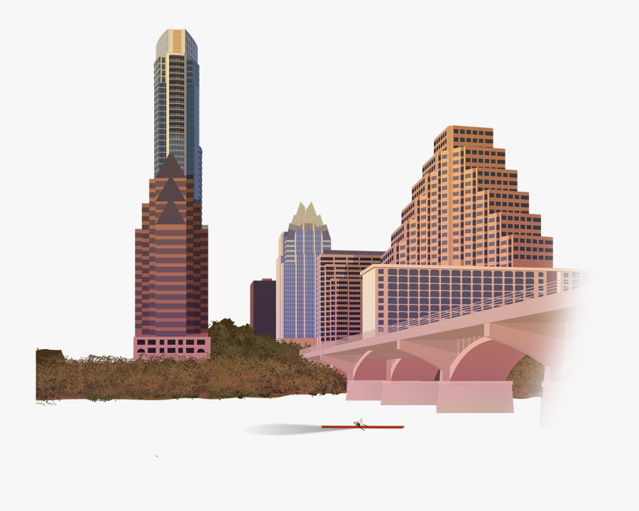 Austin Texas Png Clipart Black And White Stock - Austin Texas Skyline Png, Transparent Clipart