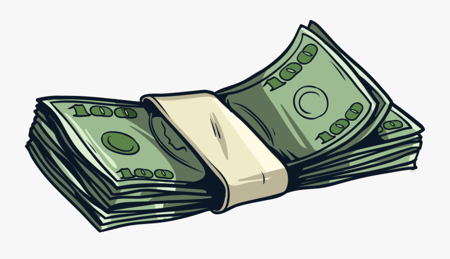 Dollars Clipart Subsidy - Cartoon Money Stack Png, Transparent Clipart
