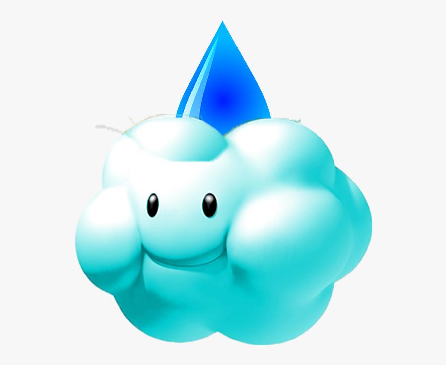 Mario Kart Snow Cloud Clipart , Png Download - Snow Cloud Mario, Transparent Clipart