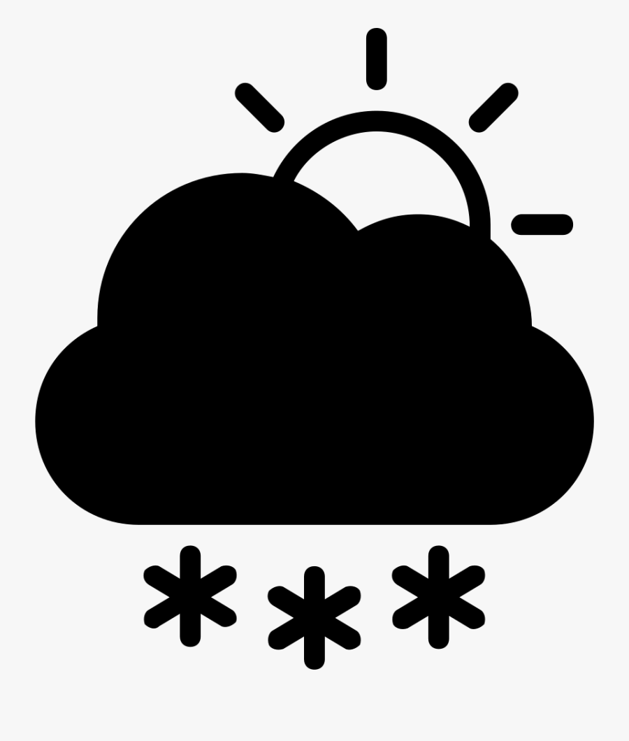 Snow Storm Day Symbol Of Winter Weather Comments - Simbolo Clima, Transparent Clipart