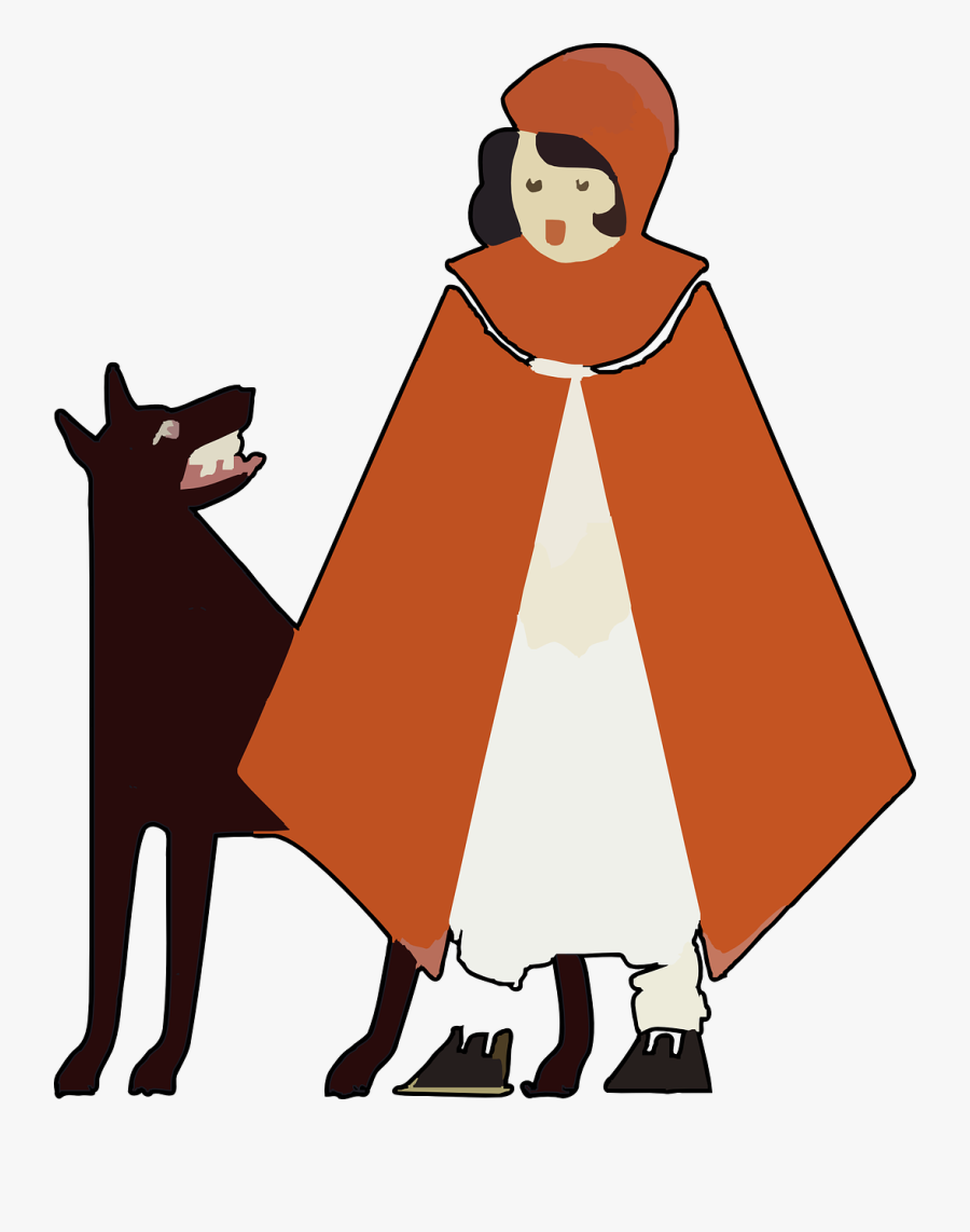 Little Red Riding Hood Wolf Png Image - Little Red Riding Hood Cartoon Transparent, Transparent Clipart