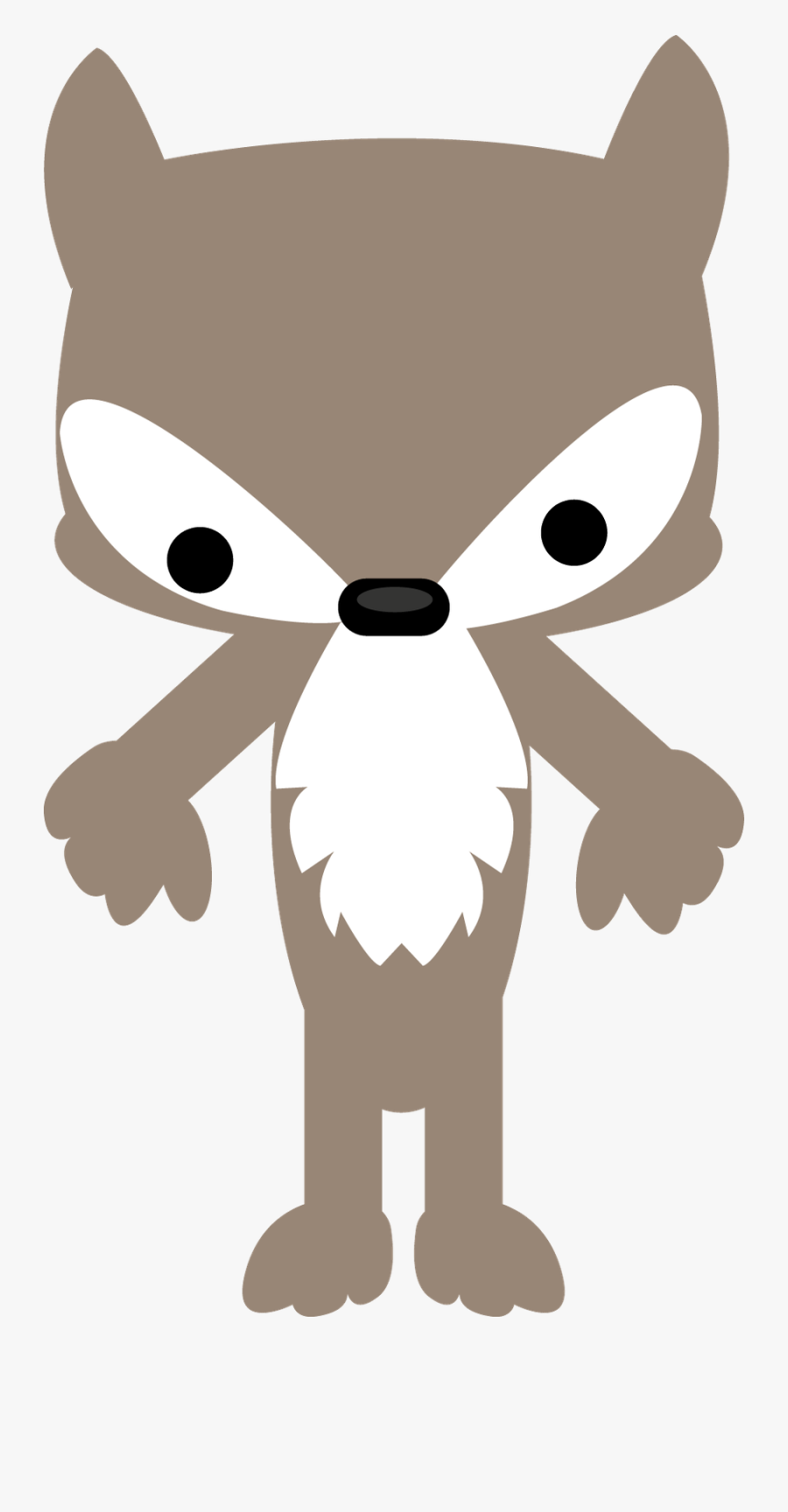 Transparent Wolf Clipart - Cute Little Red Riding Hood Wolf, Transparent Clipart