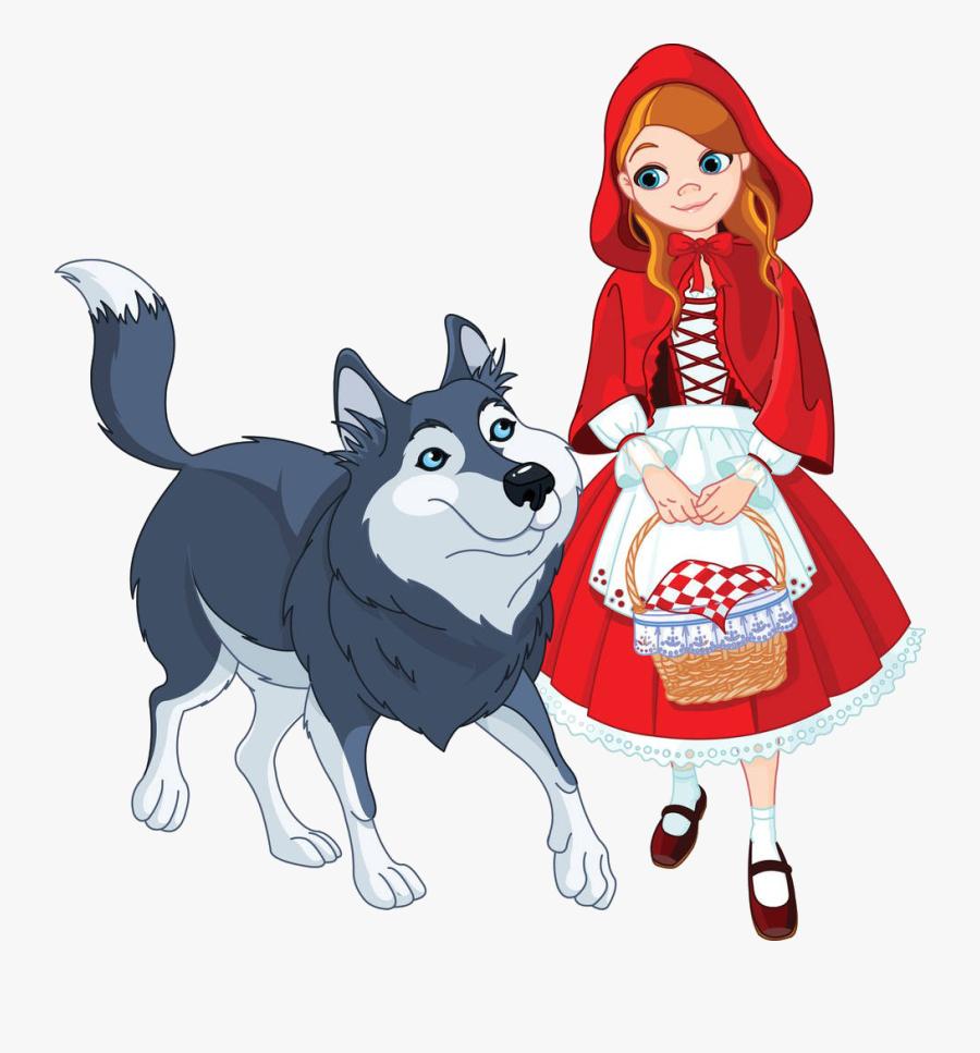 Big Bad Wolf Little Red Riding Hood Clip Art - Little Red Riding Hood Drawing, Transparent Clipart