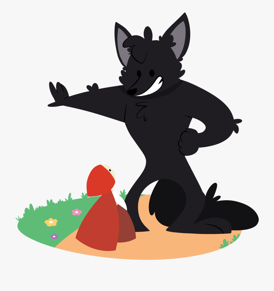 Transparent Big Bad Wolf Clipart - Free Clipart Wolf Little Red Riding Hood, Transparent Clipart