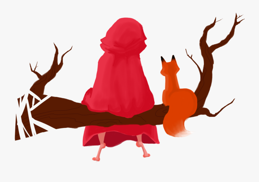 Little Red Riding Hood, Background Wallace Hale - Little Red Riding Hood Png, Transparent Clipart
