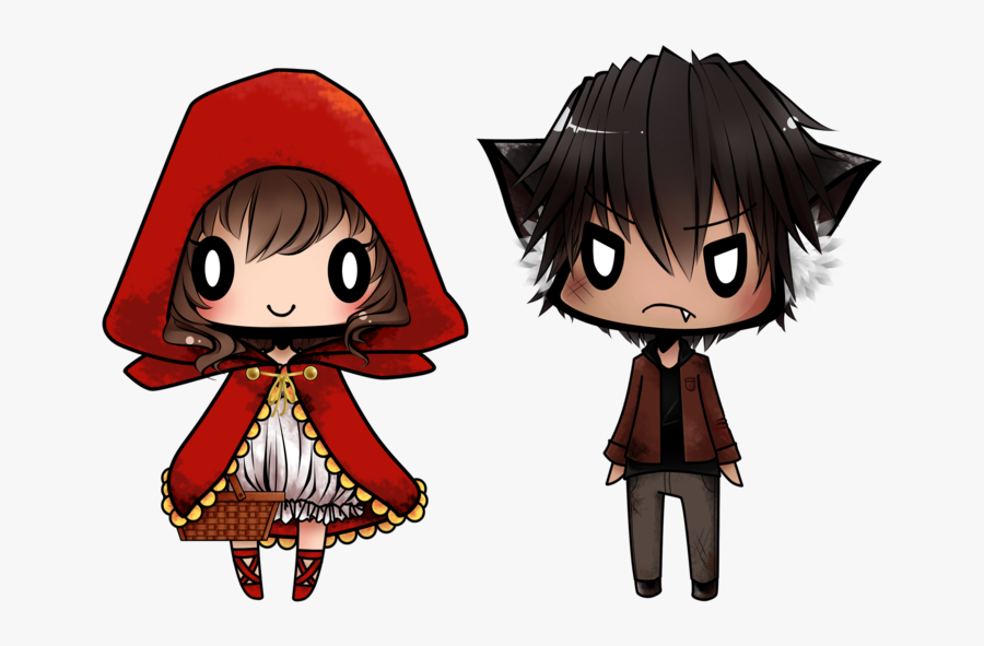 Wolf Clipart Little Red Riding Hood Wolf - Anime Little Red Riding Hood Drawing, Transparent Clipart