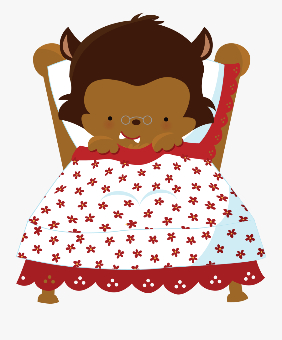 Transparent Little Red Riding Hood Png - Red Riding Hood Granny, Transparent Clipart