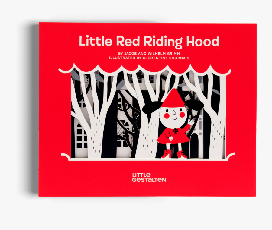 Transparent Little Red Riding Hood Grandma Clipart - Red Riding Hood Cut Book, Transparent Clipart