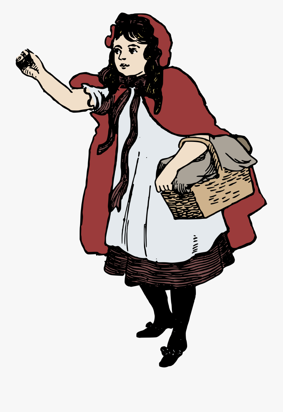 Little Red Riding Hood Clip Arts - Red Riding Hood Png, Transparent Clipart