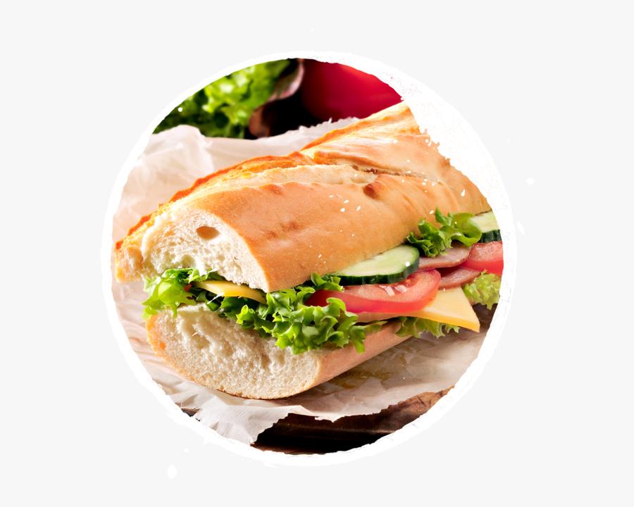 Sandwich Clipart Baguette Sandwich - Ham & Cheese Baguette ...
