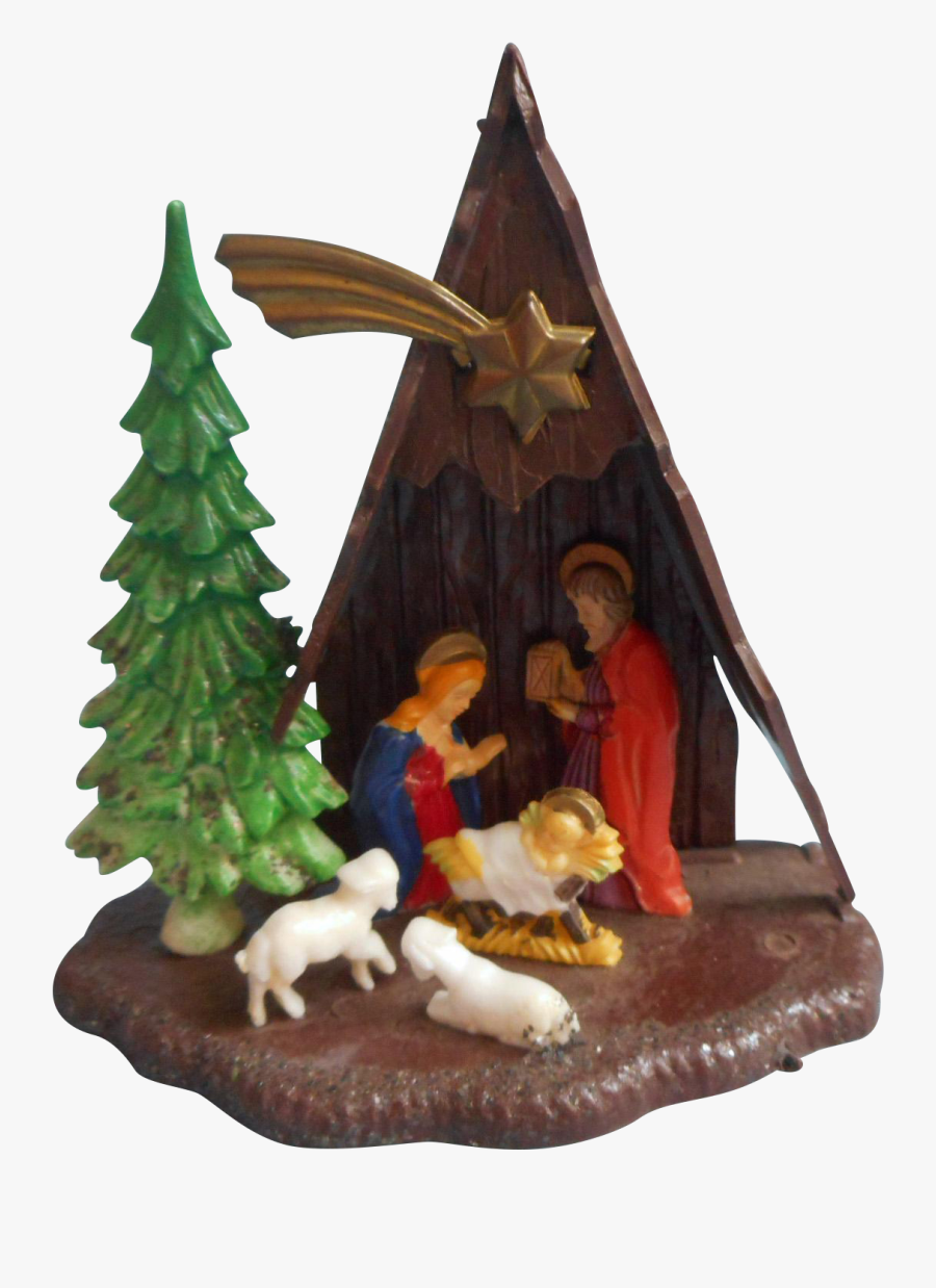Vintage A Frame Nativity Christmas Ornament Plastic - Christmas Tree, Transparent Clipart