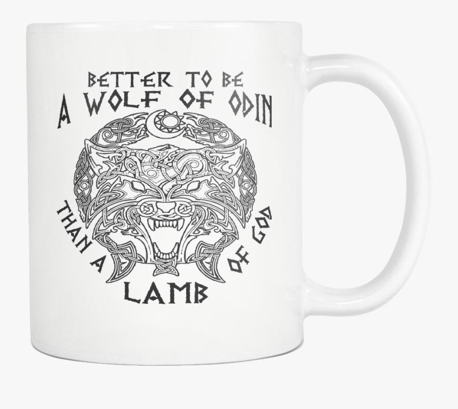 Viking Mug Norse Mythology Asatru Thors Hammer Beer - Beer Stein, Transparent Clipart