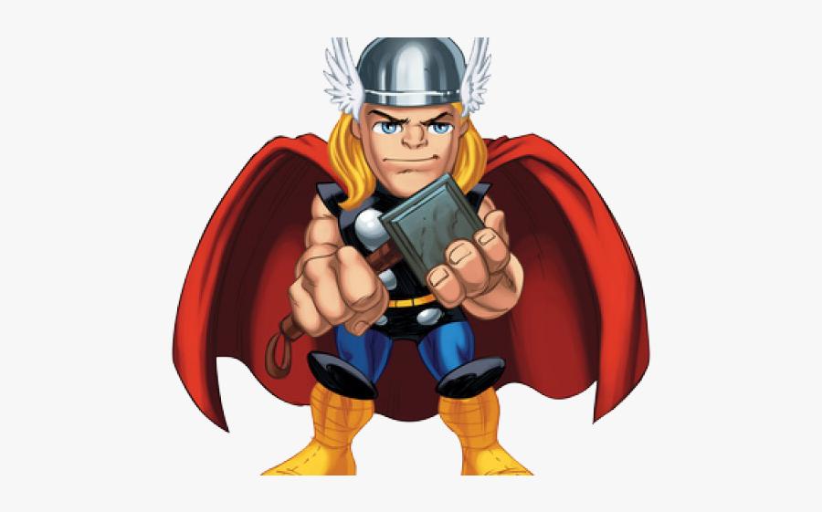 Marvel Super Hero Squad Thor, Transparent Clipart