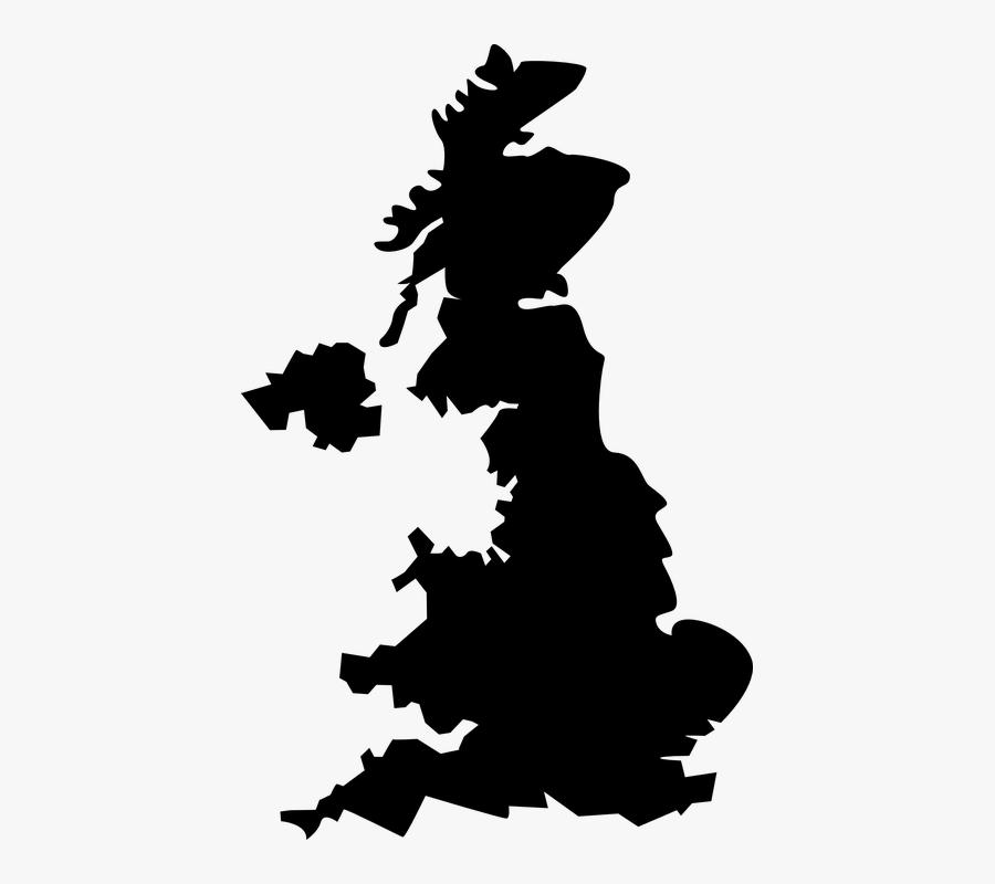 Free Image On Pixabay - United Kingdom Map Black, Transparent Clipart
