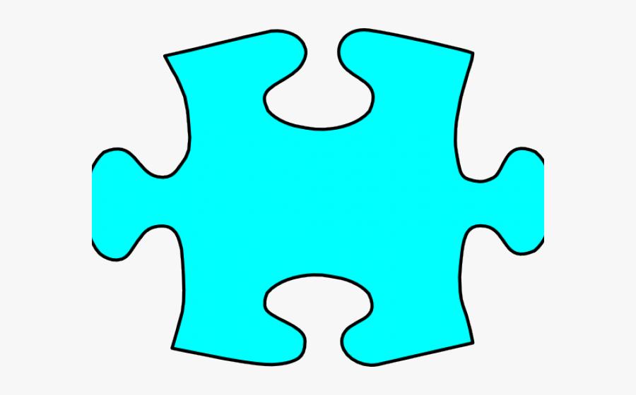 Teal Clipart Puzzle Piece, Transparent Clipart