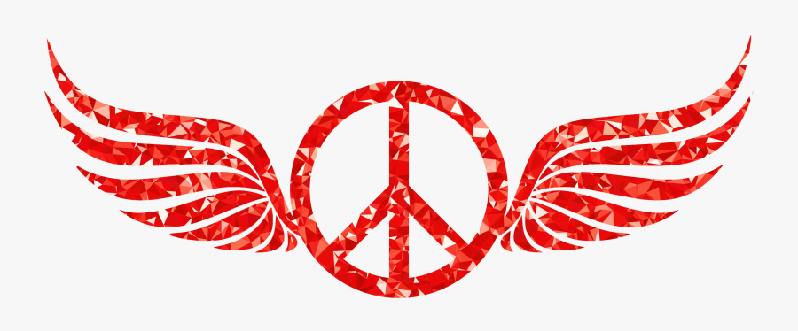 Organ,symbol,wing - Peace Sign With Wings, Transparent Clipart