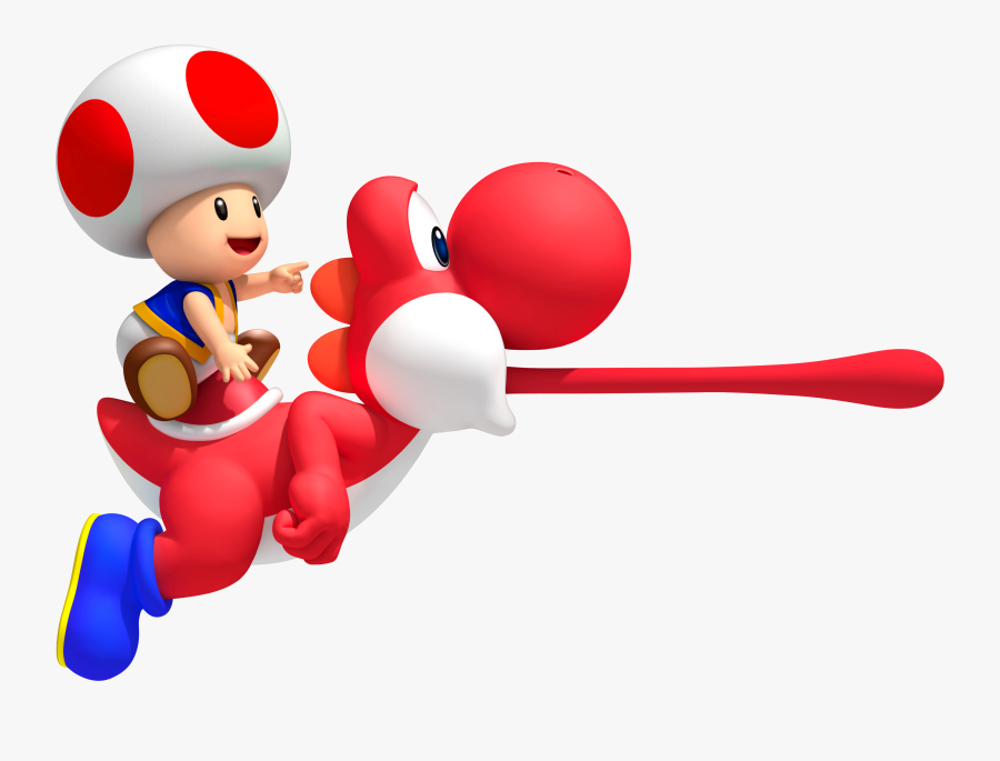 Super Mario Toad And Yoshi Free Transparent Clipart Clipartkey
