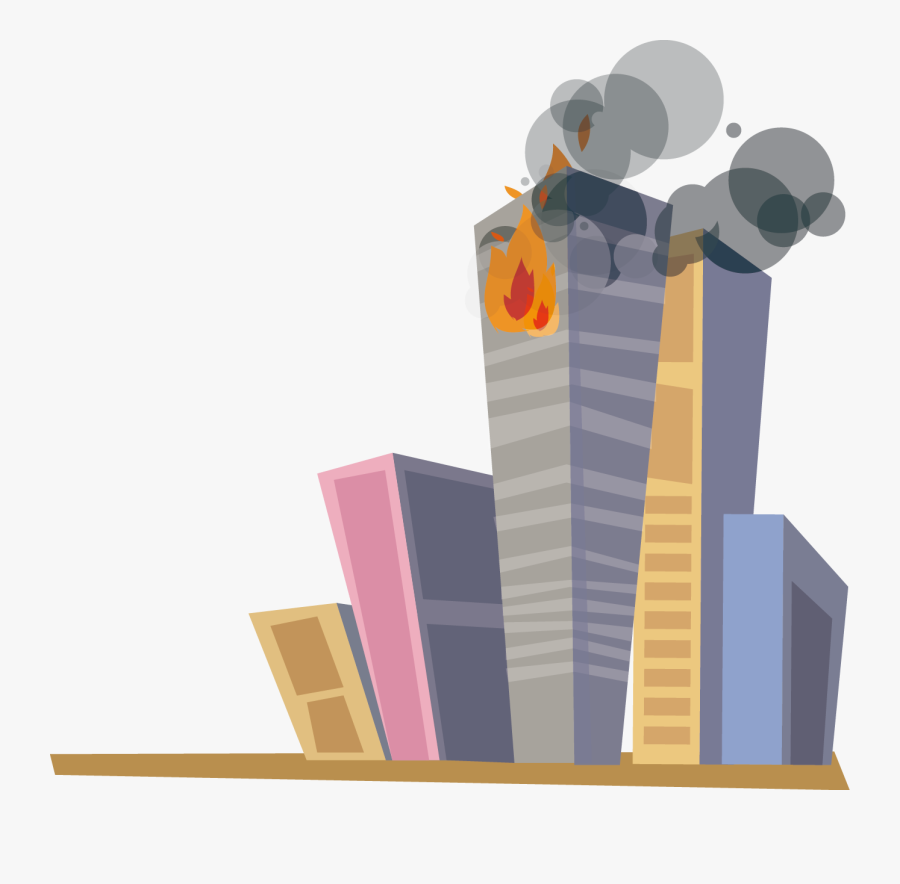 Cartoon Building On Fire - Building On Fire Animation, Transparent Clipart