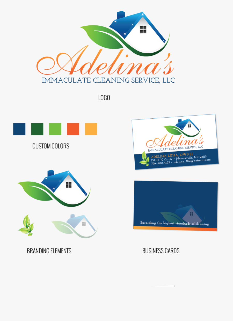 Clip Art Cleaning Services Business Cards Examples - Graphic Design, Transparent Clipart