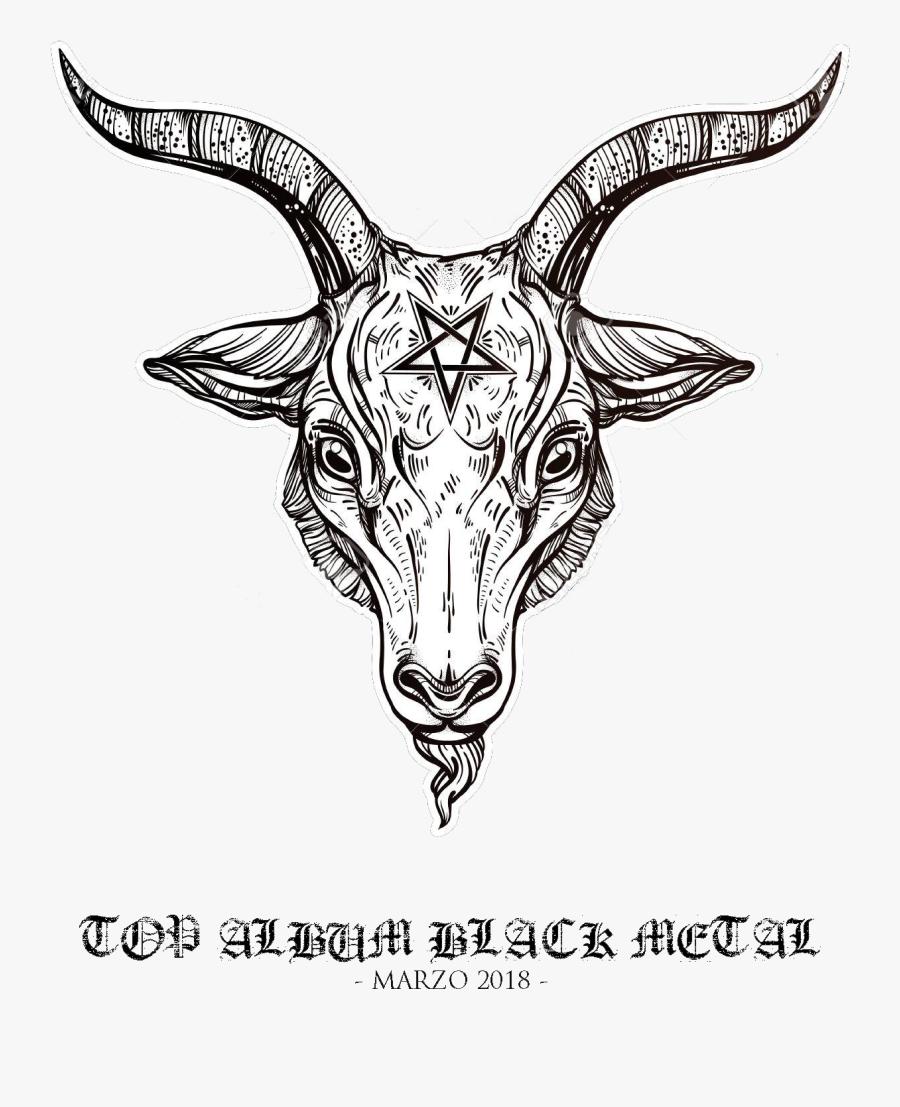 Demon Goat Head - Baphomet Head, Transparent Clipart