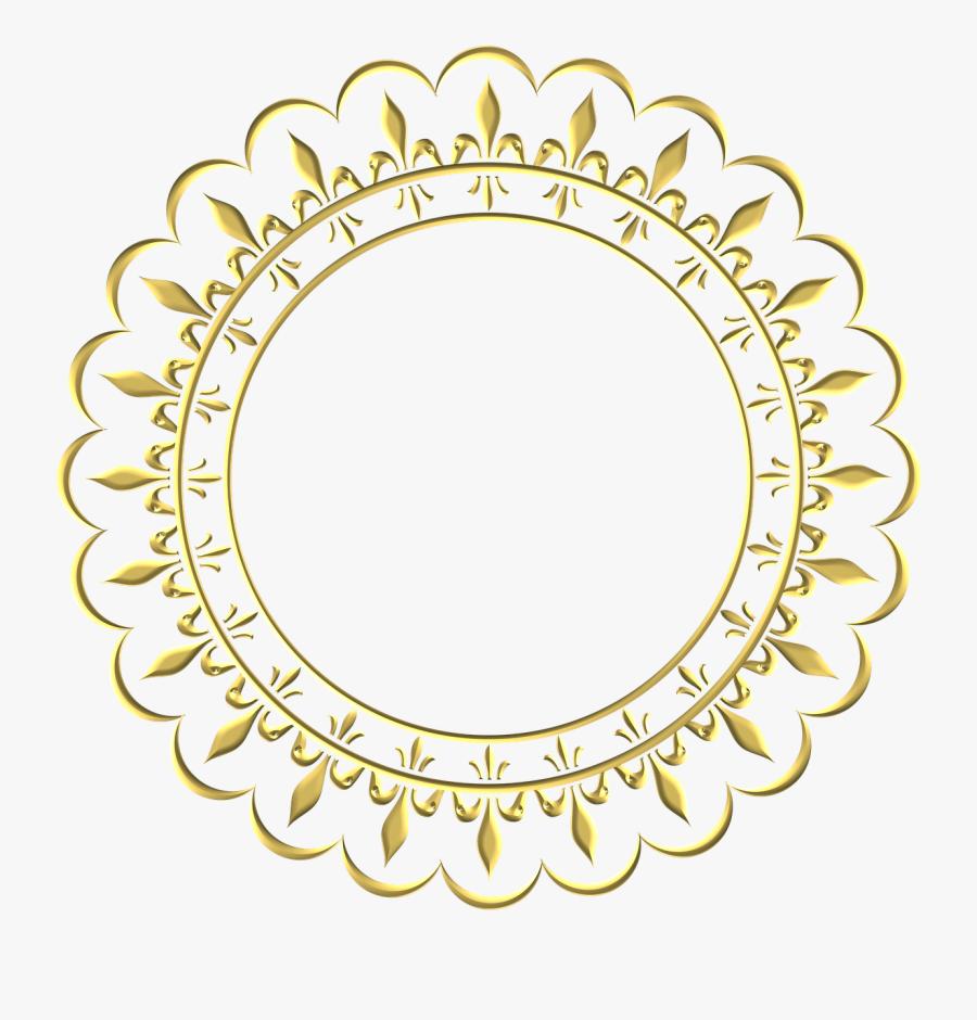Gold Frame Border Png - Round Gold Border Png, Transparent Clipart
