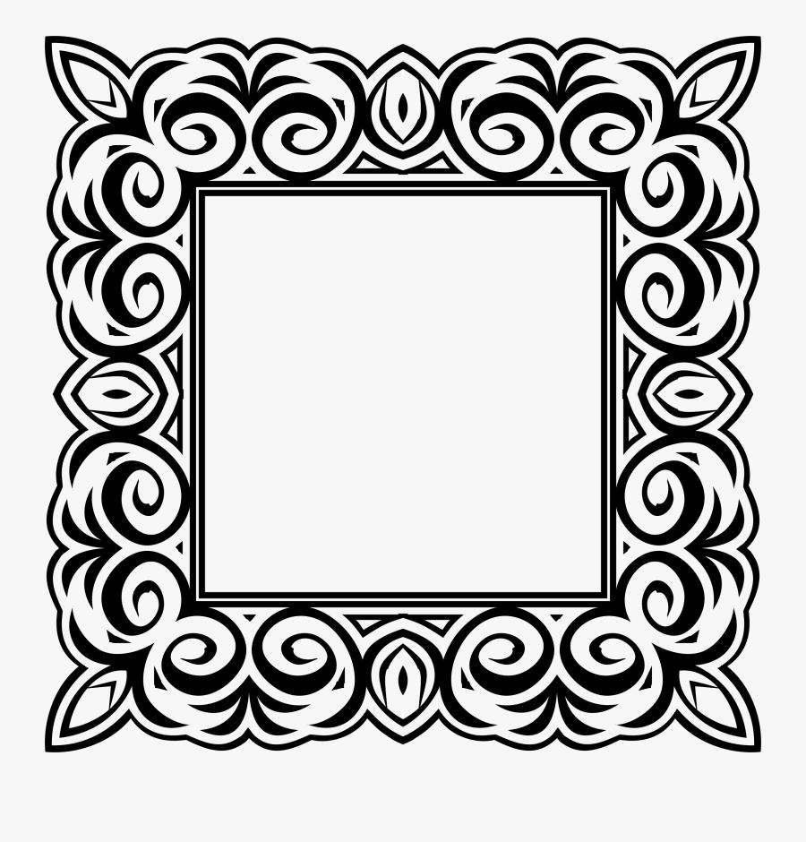 Picture Frames Octagon Shape Ornament Square Circle - Vintage Decorative Ornamental Frame 2, Transparent Clipart
